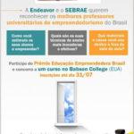 Prêmio Educação Empreendedora Brasil para Professores de Empreendedorismo