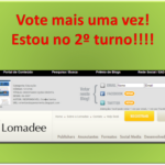 Finalista do 2º Turno do TOPO BLOG!  Vote!