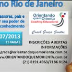 VEM AÍ….1º WORKSHOP NO RIO DE JANEIRO