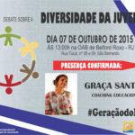 Coach Educacional Graça Santos, no debate sobre a Diversidade da Juventude.