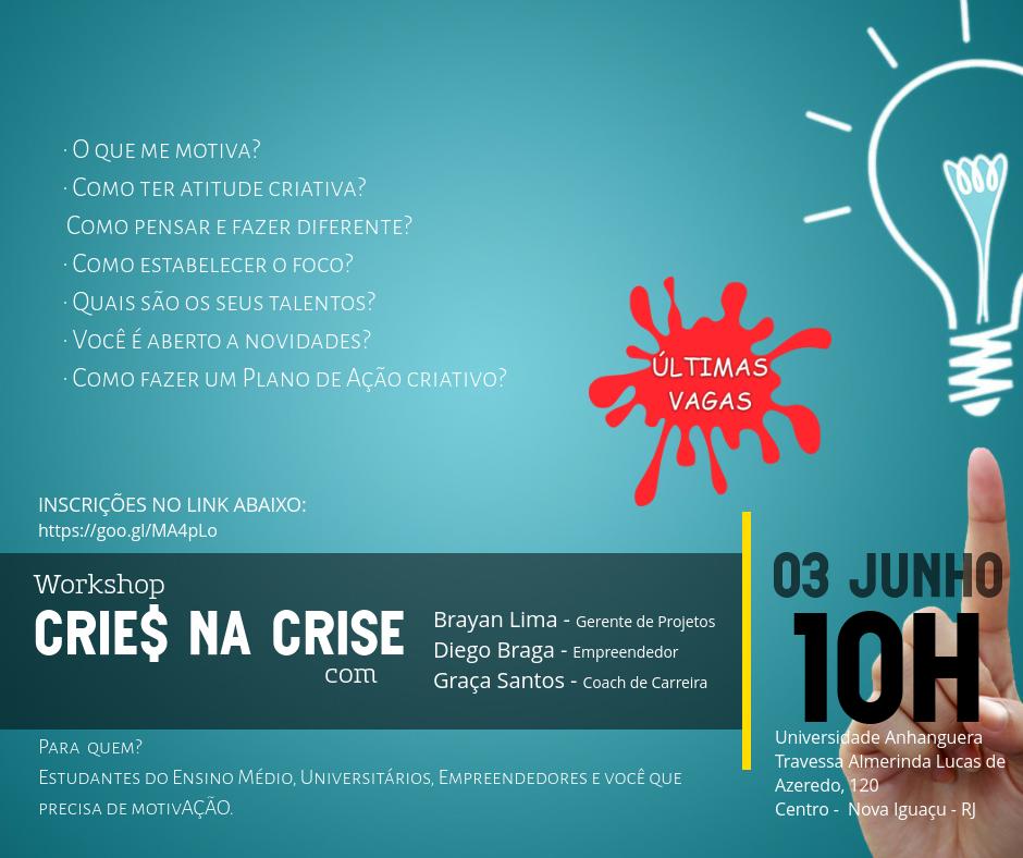 Workshop Crie na Crise