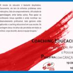 Vantagens do Coaching Educacional, palestra dia 19 de agosto com inscrições abertas