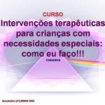 INTERVENÇÕES TERAPÊUTICAS >>> CURSO NO ESPAÇO PRISMA