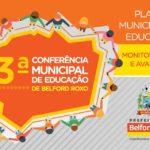 """""""Quem sou eu para educar?"""" palestra realizada por Graça Santos na 3ª Conferência Municipal de Educação de Belford Roxo"""