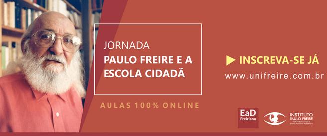 """Inscrições abertas para a Jornada """"Paulo Freire e a Educação Cidadã"""""""