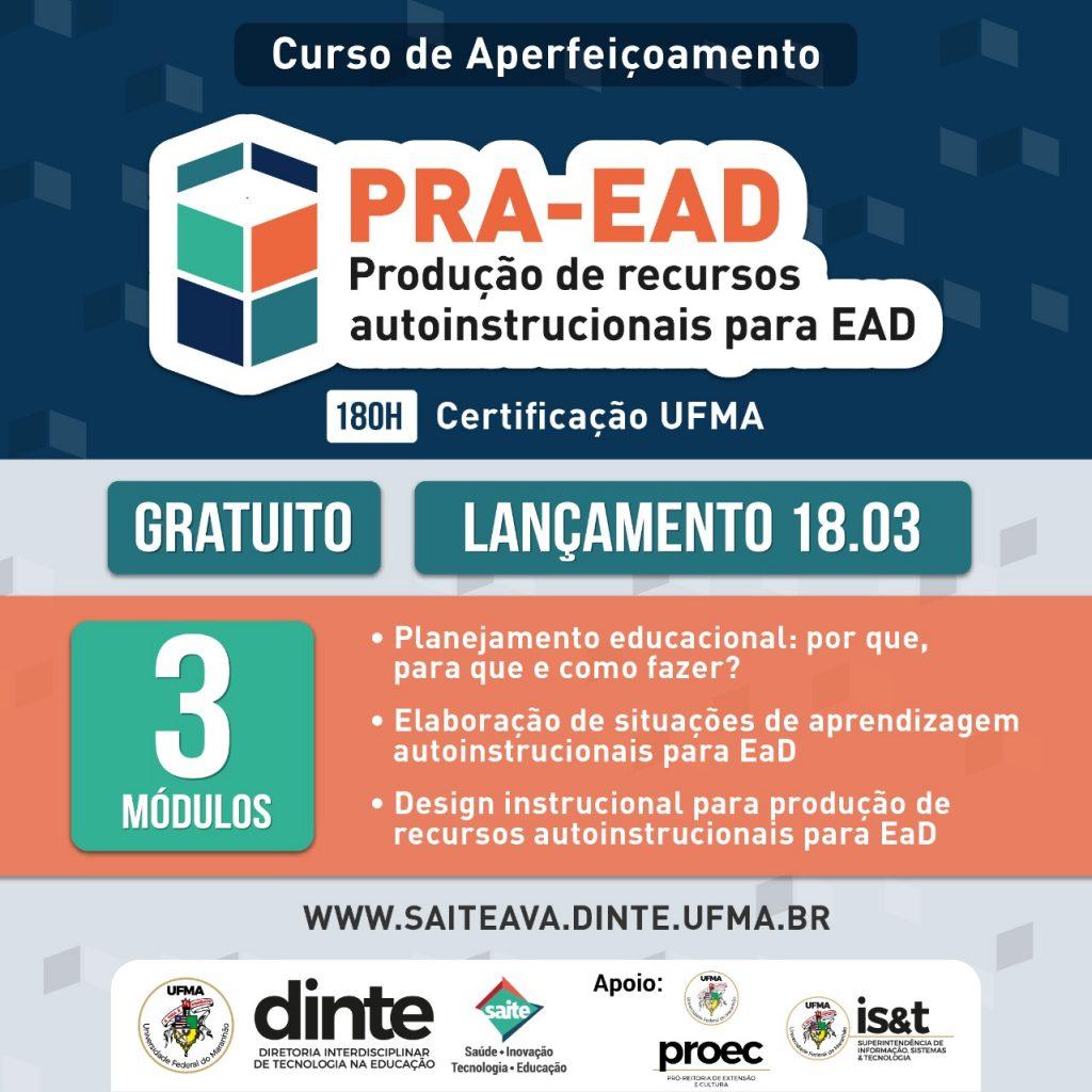 Curso de Aperfeiçoamento gratuito – Produção de recursos autoinstrucionais para EAD